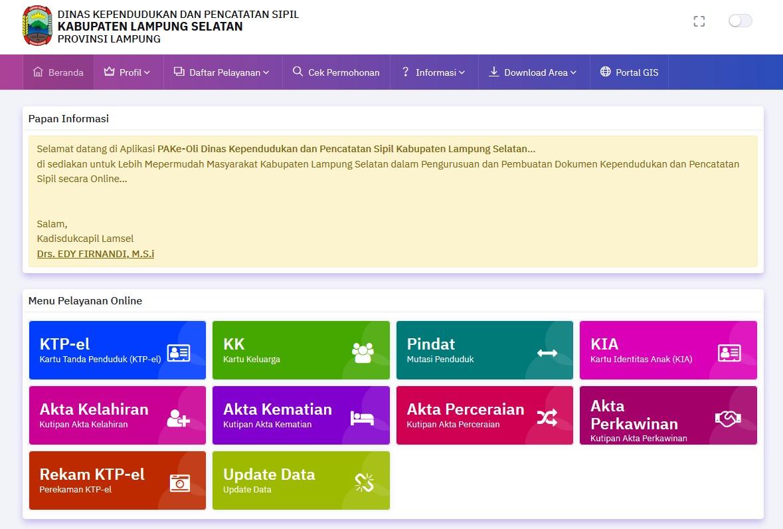 Pelayanan Online Ka. Lampung Selatan
